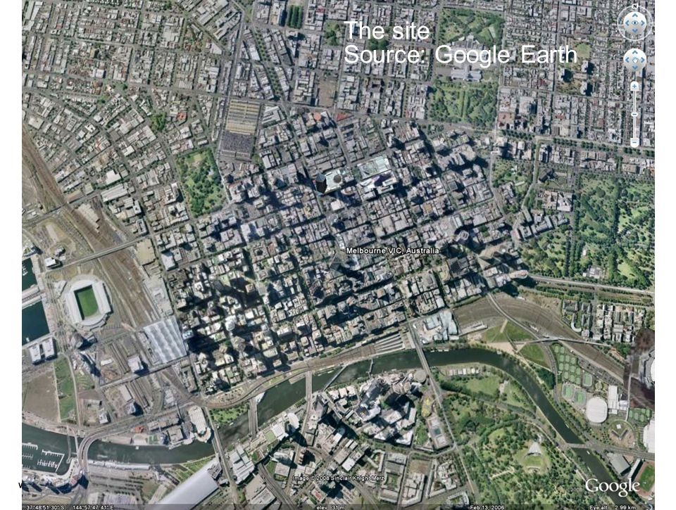 The site Source: Google Earth