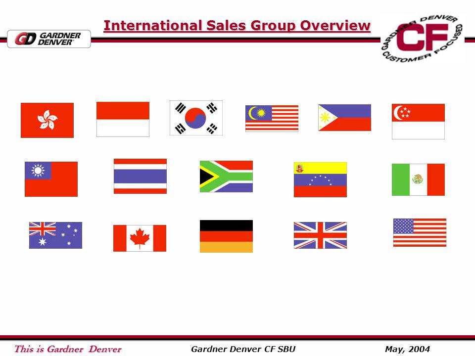 This is Gardner Denver This is Gardner Denver Gardner Denver CF SBU May, 2004 International Sales Group Overview