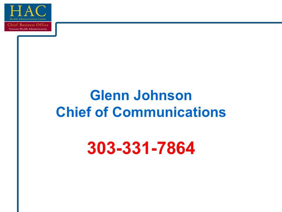Glenn Johnson Chief of Communications 303-331-7864