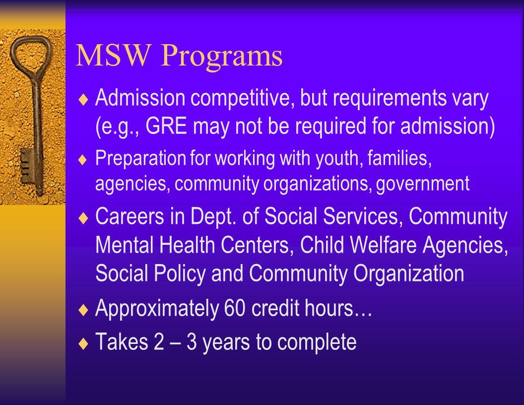 Ph.D. Programs in Counseling Psychology Program C.S.U. Fort Collins Univ. of Denver U.C. Santa Barb. Florida St. Univ. Univ. of Indiana Univ. of Kentu