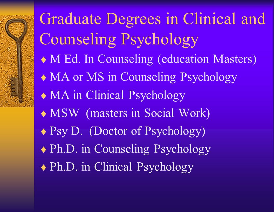 Graduate Programs in Psychology Dr. Michael Anziano