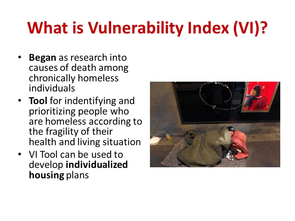 What is Vulnerability Index (VI).