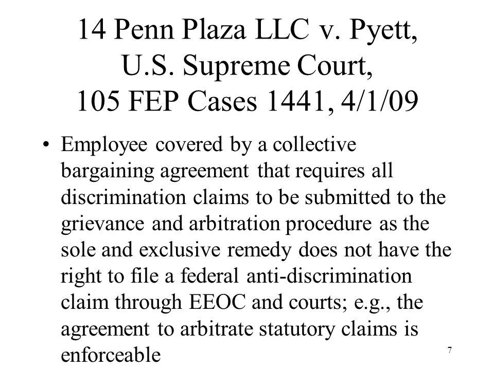 Penn Plaza CBA Language §30 NO DISCRIMINATION.
