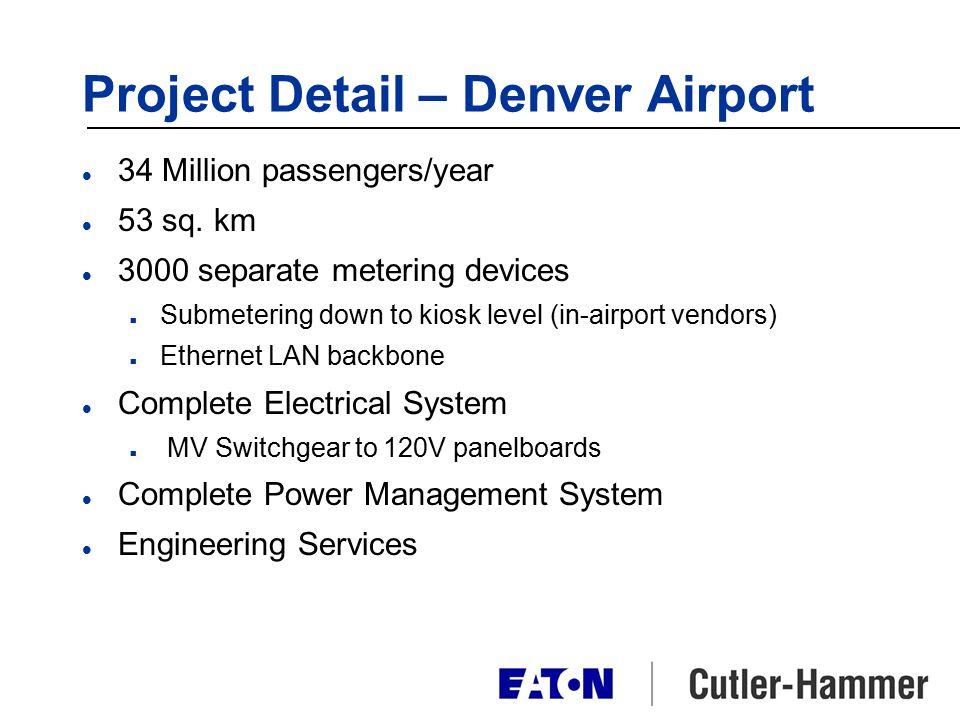 Project Detail – Denver Airport l 34 Million passengers/year l 53 sq.