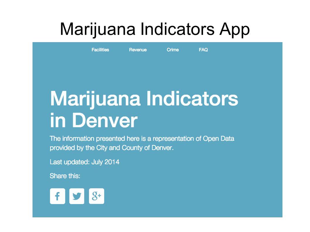 Marijuana Indicators App