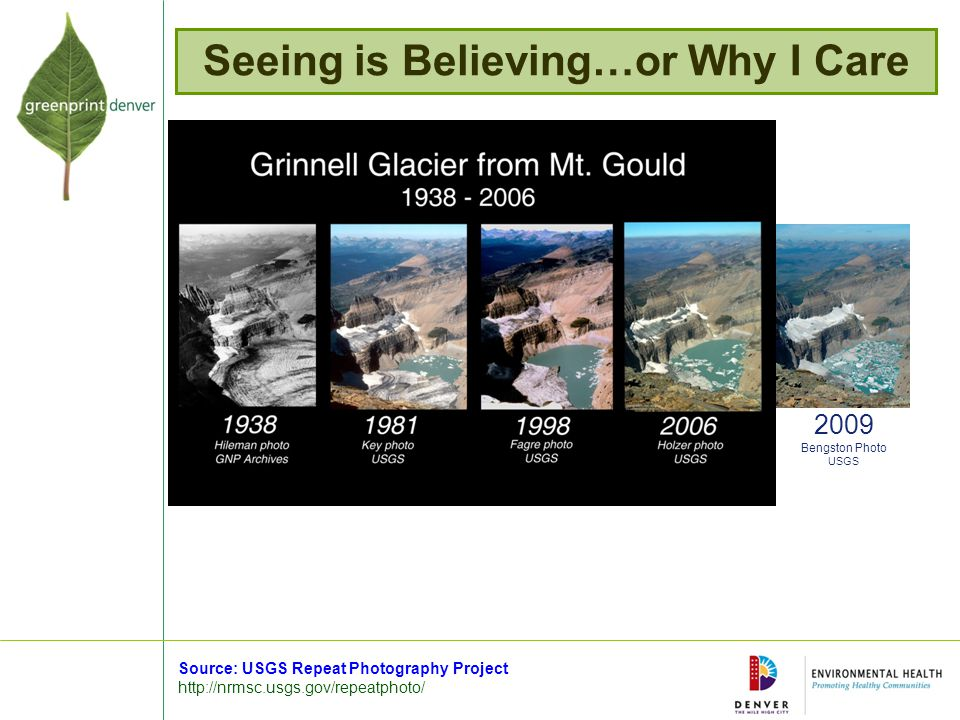 Seeing is Believing…or Why I Care 2009 Bengston Photo USGS Source: USGS Repeat Photography Project http://nrmsc.usgs.gov/repeatphoto/