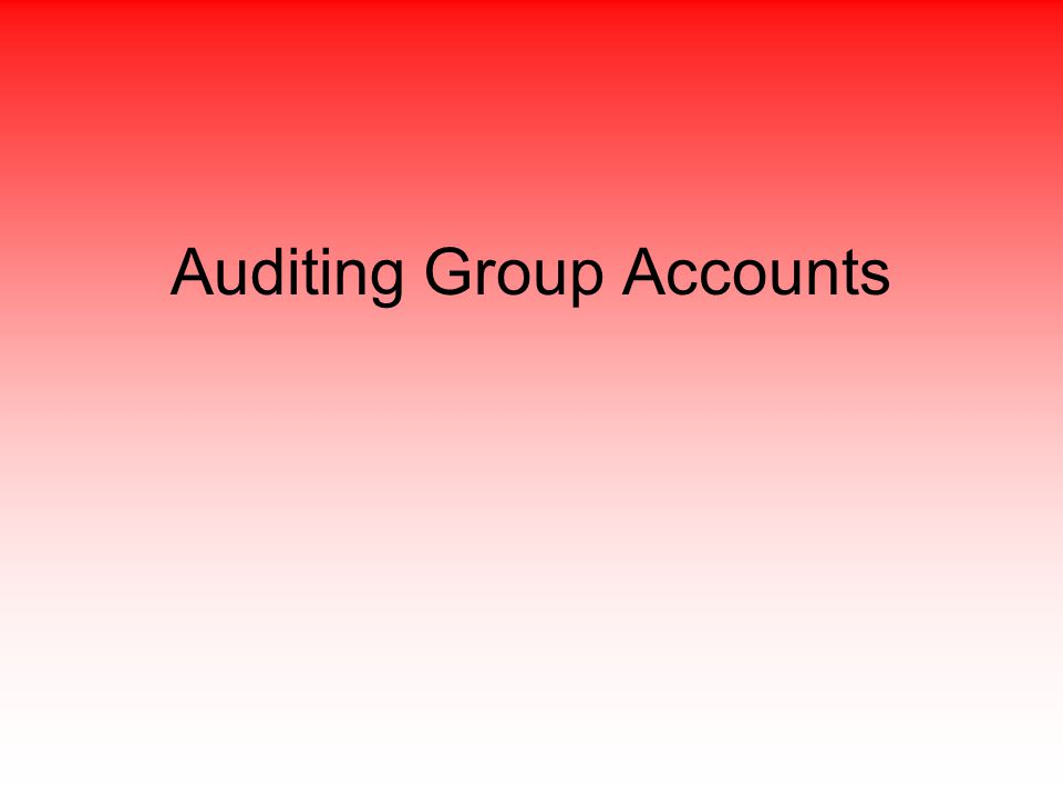 Auditing Group Accounts