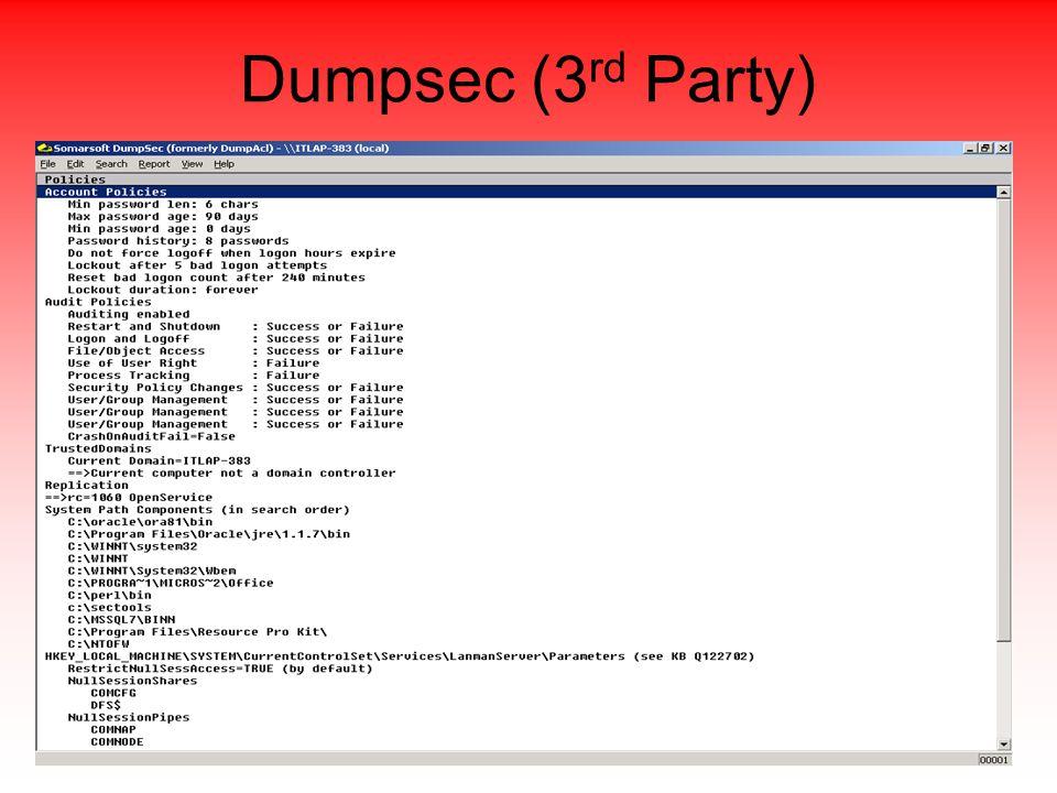 Dumpsec (3 rd Party)