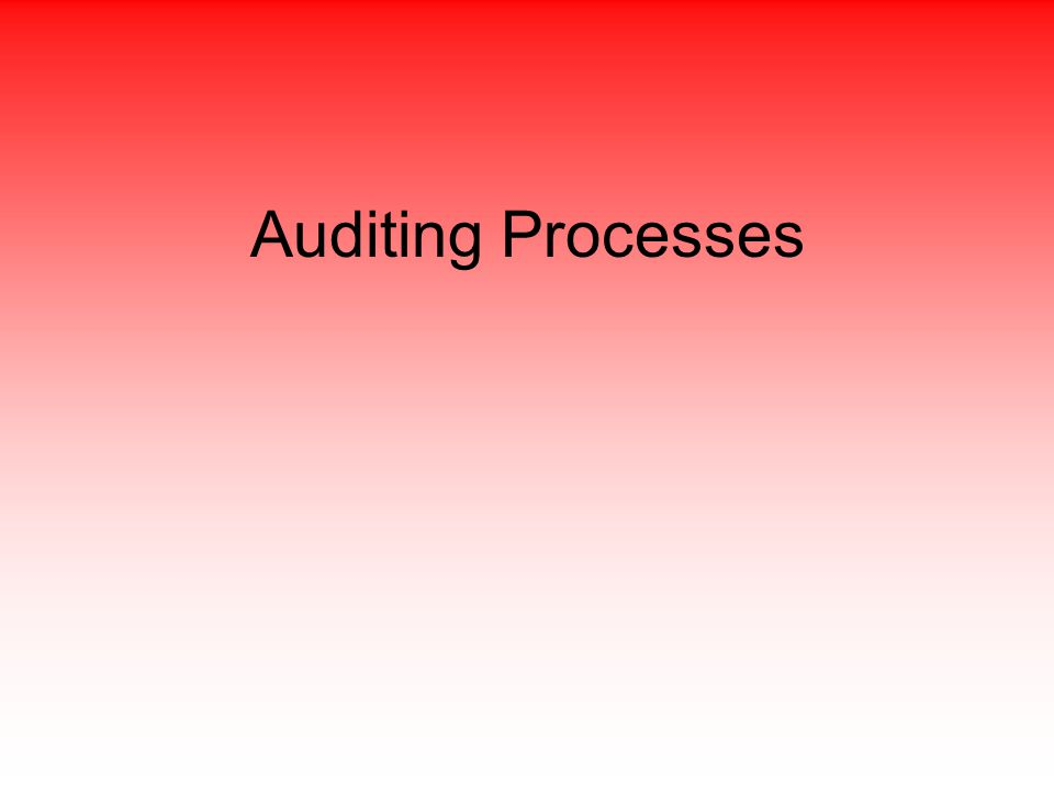 Auditing Processes