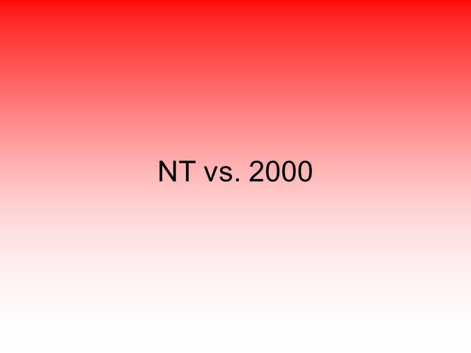 NT vs. 2000