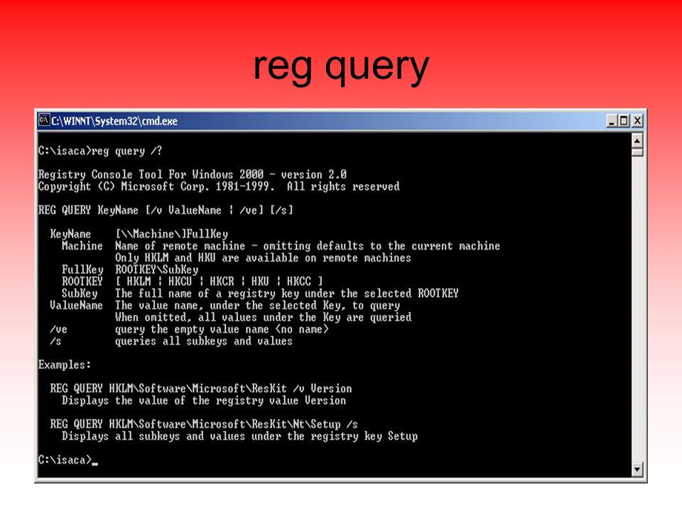 reg query