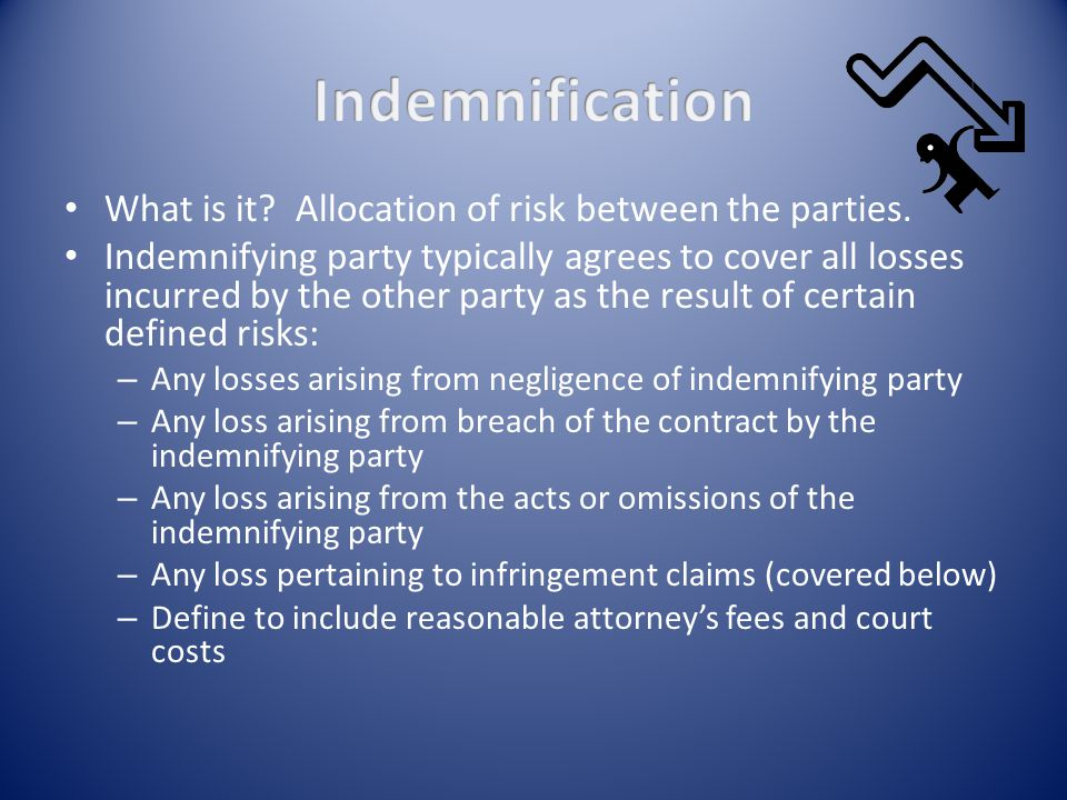 What is it. Allocation of risk between the parties.