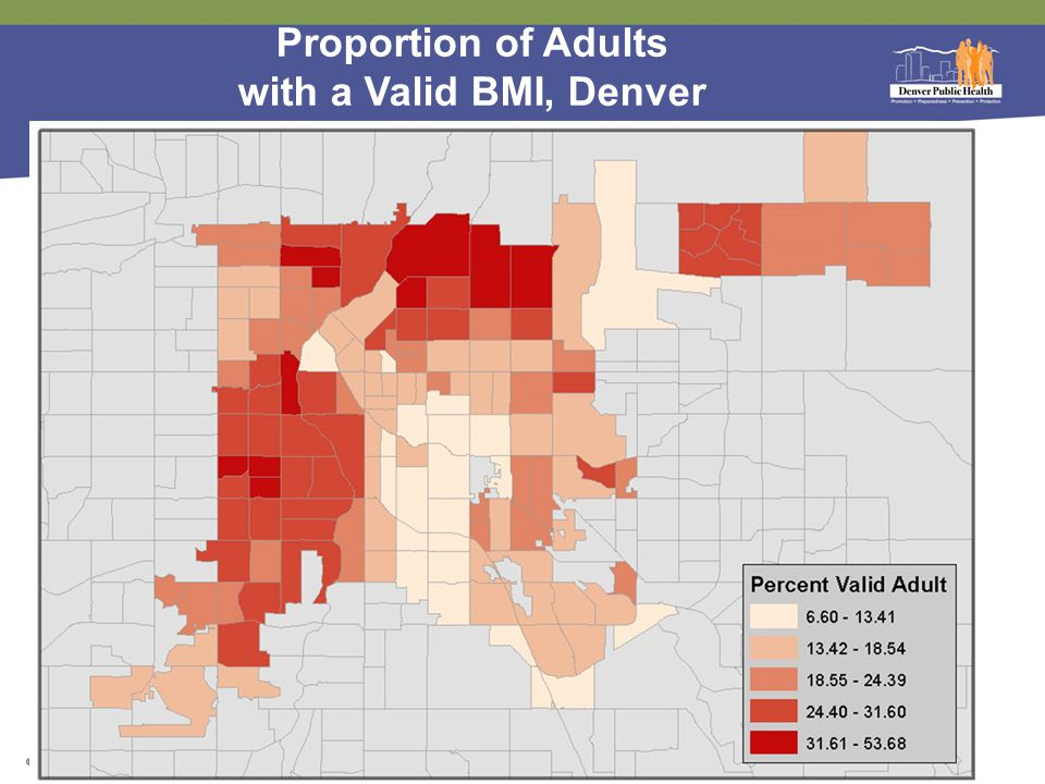 Proportion of Adults with a Valid BMI, Denver