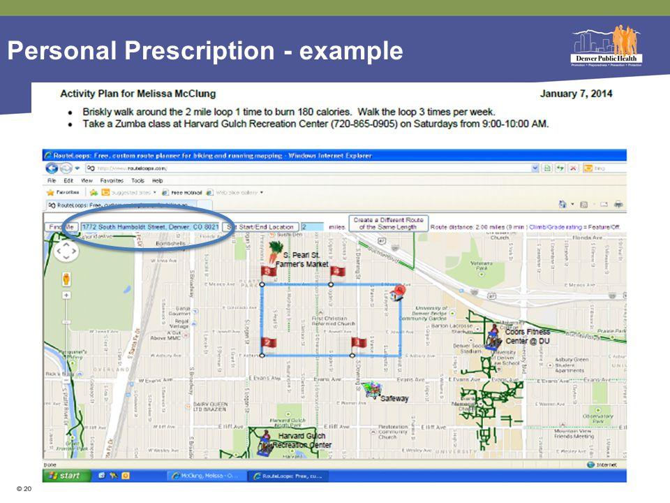 Personal Prescription - example