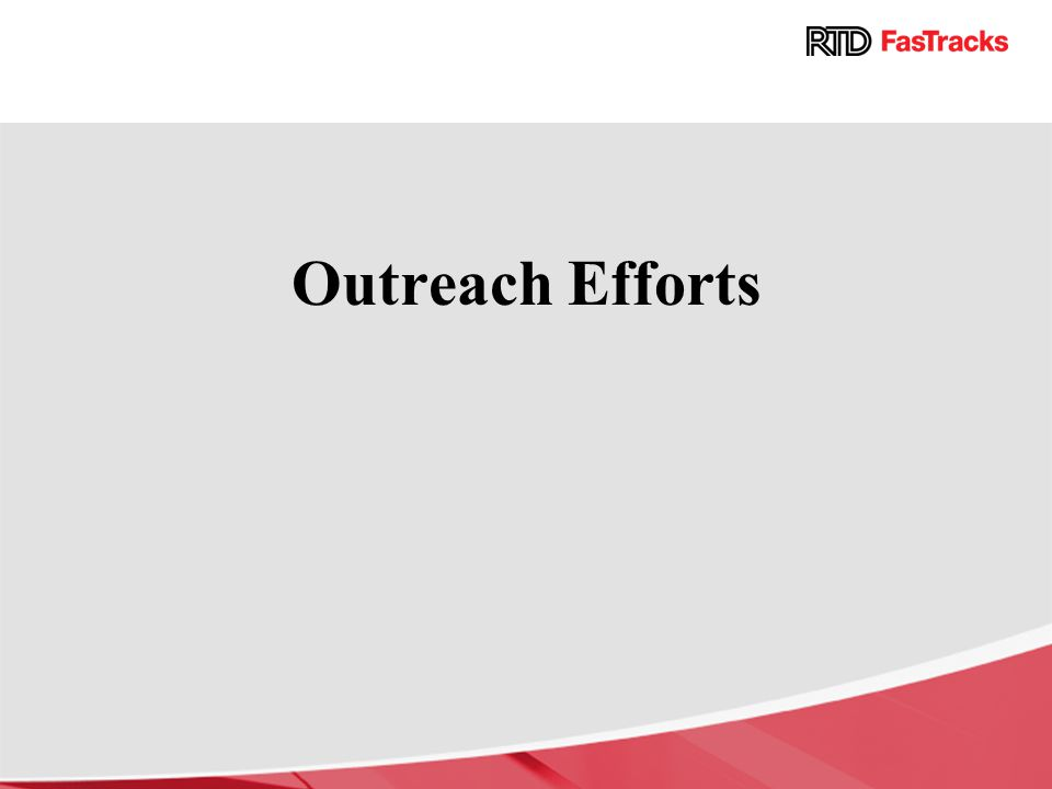 Outreach Efforts