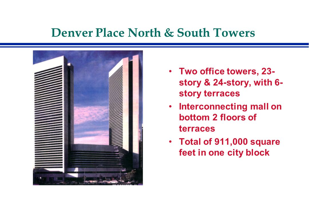 Efficiency not improved much in chiller conversions Small, if any, energy savings, long payback periods Denver Place North & South Towers Cost of Chiller Conversion