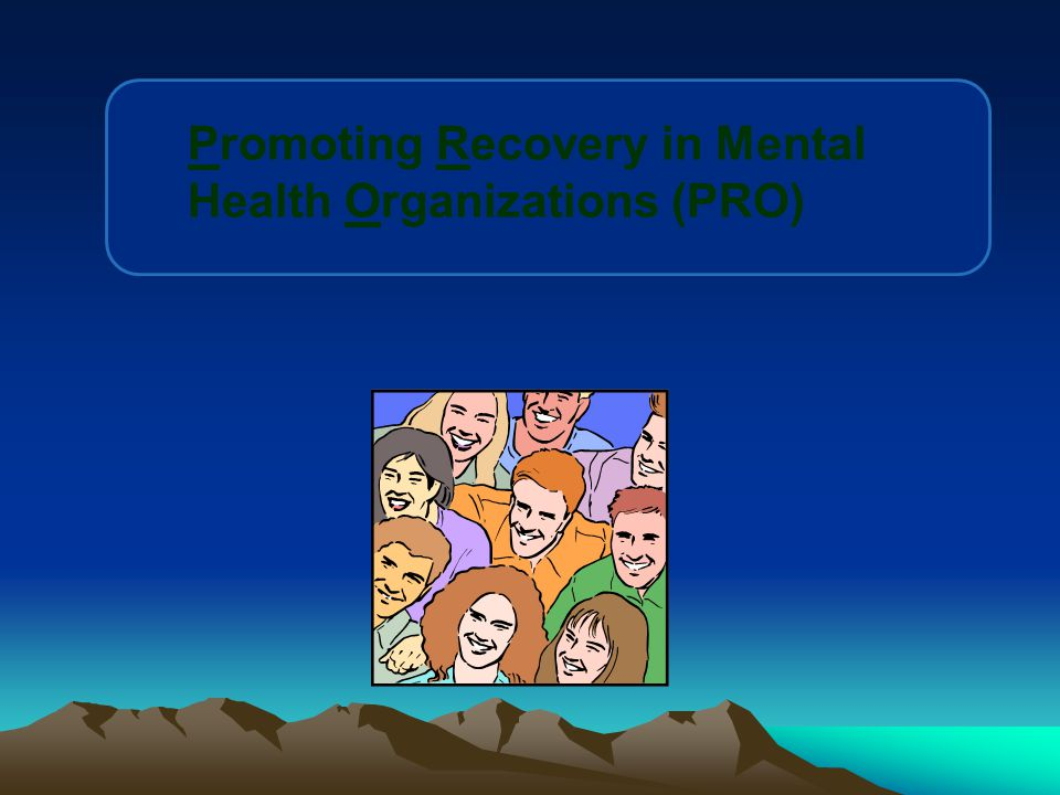 Promoting Recovery in Mental Health Organizations (PRO)