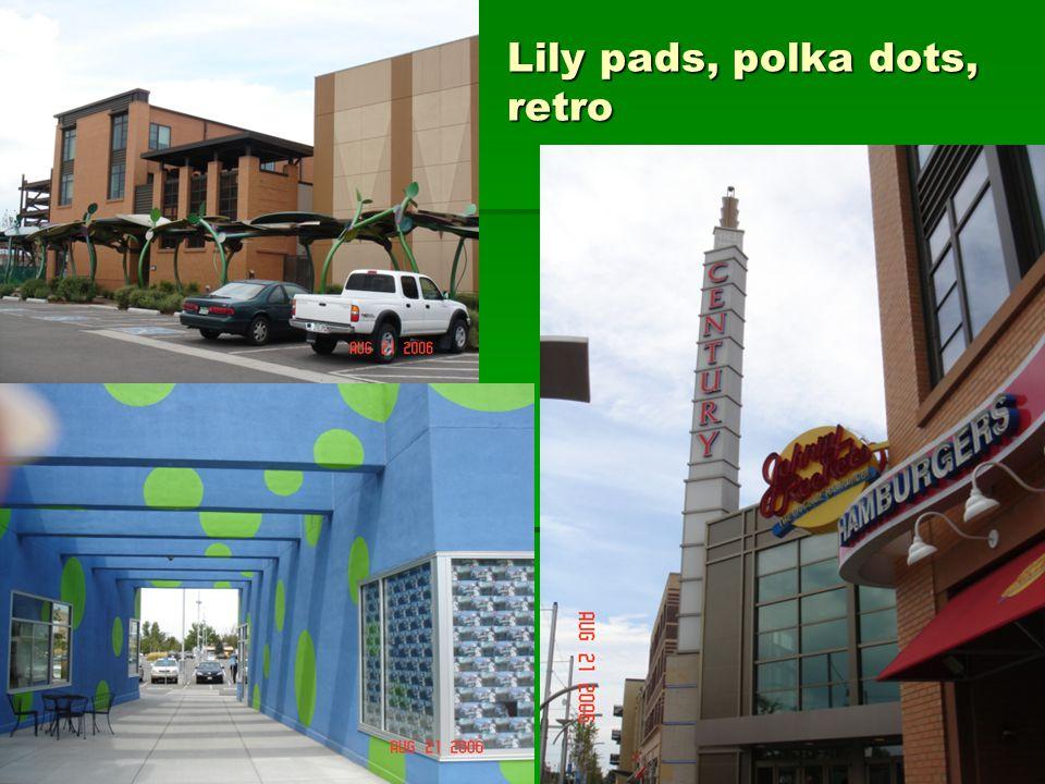 Lily pads, polka dots, retro