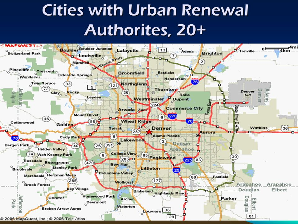 Cities with Urban Renewal Authorites, 20+