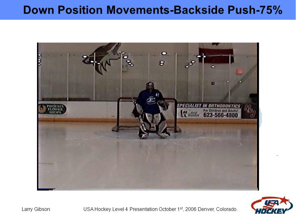 Larry Gibson USA Hockey Level 4 Presentation October 1 st, 2006 Denver, Colorado.
