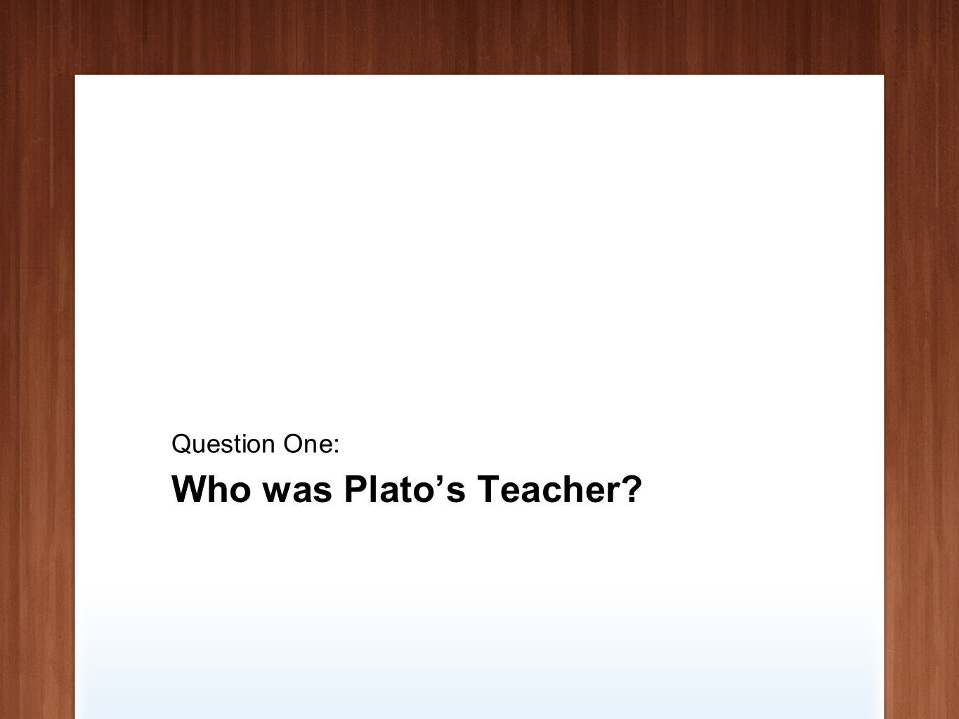 Who was Aristotle's Most famous Student? Question Two: