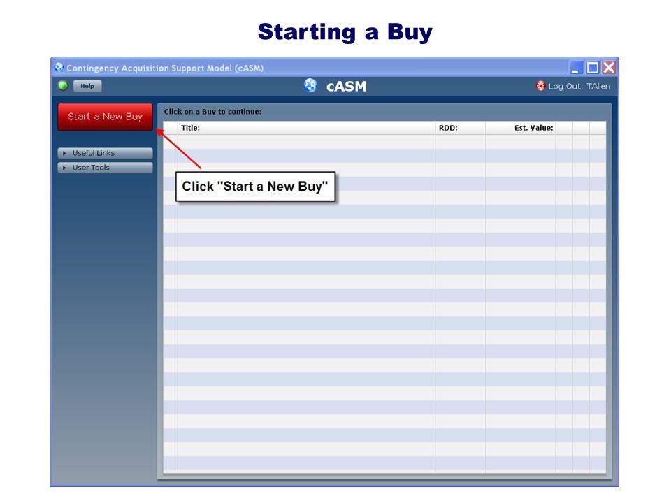 2009 DENVER Starting a Buy
