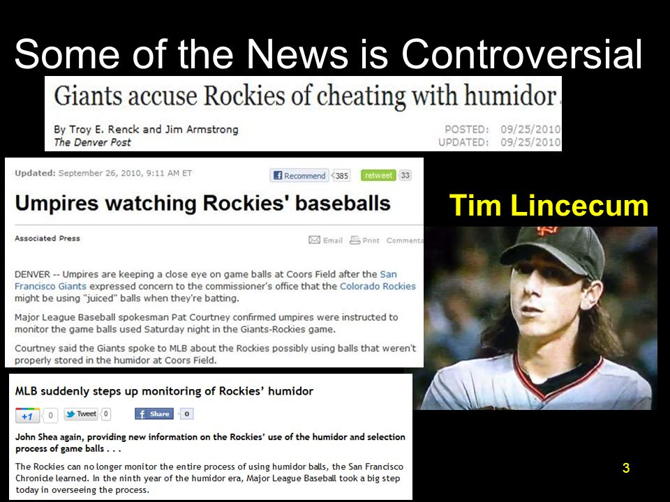 Some of the News is Controversial 3 Tim Lincecum