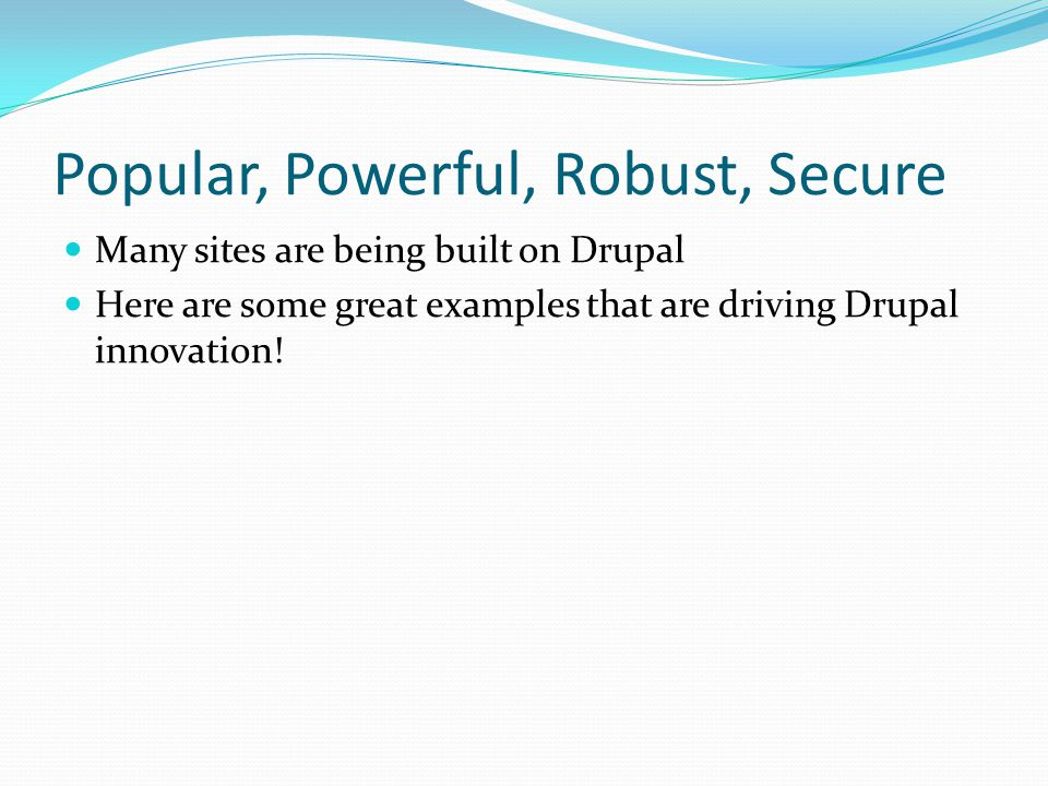 Users Drupal creates users to represent individuals with access to the site.