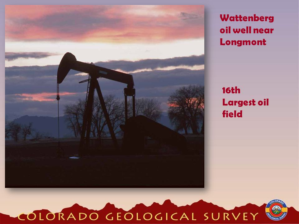 Wattenberg oil well near Longmont 16th Largest oil field