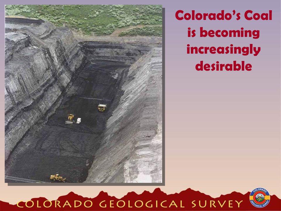 Colorado's Coal is becoming increasingly desirable