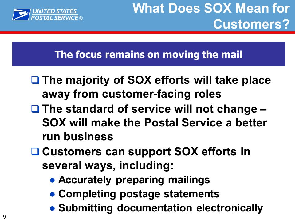 ® What Does SOX Mean for Customers.