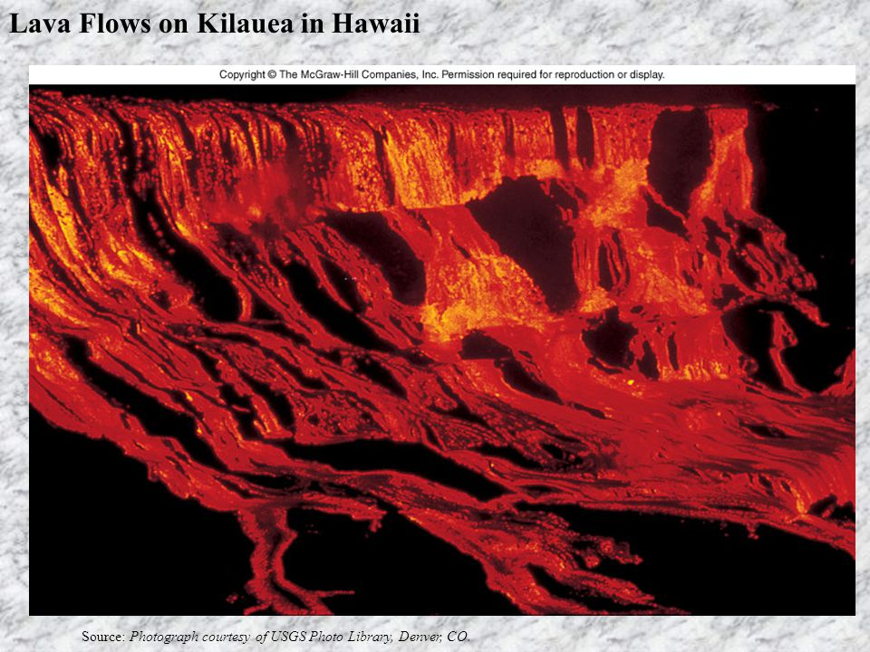 Lava Flows on Kilauea in Hawaii Source: Photograph courtesy of USGS Photo Library, Denver, CO.
