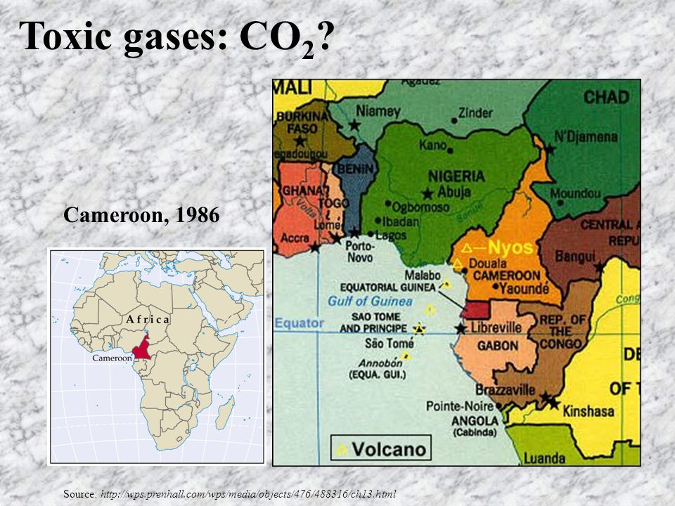 Toxic gases: CO 2 .