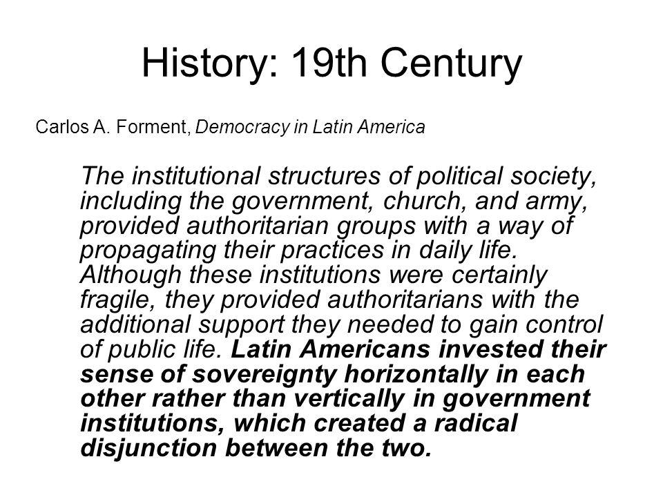 History: 19th Century Carlos A.