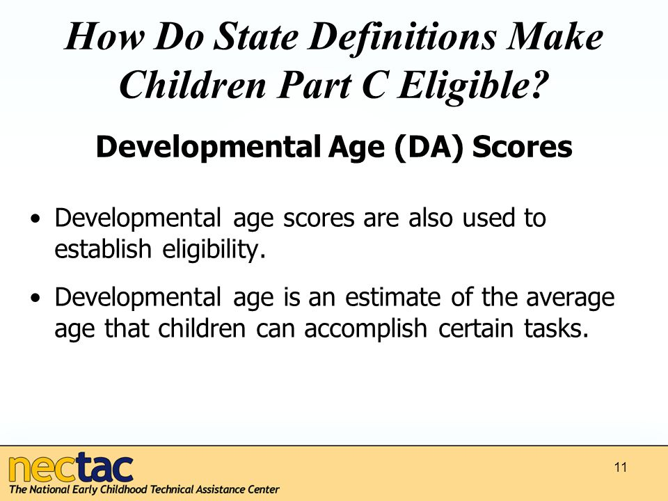 How Do State Definitions Make Children Part C Eligible.