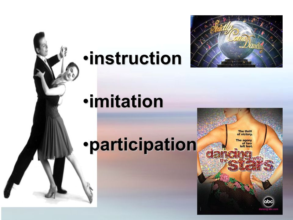 instructioninstruction imitationimitation participationparticipation