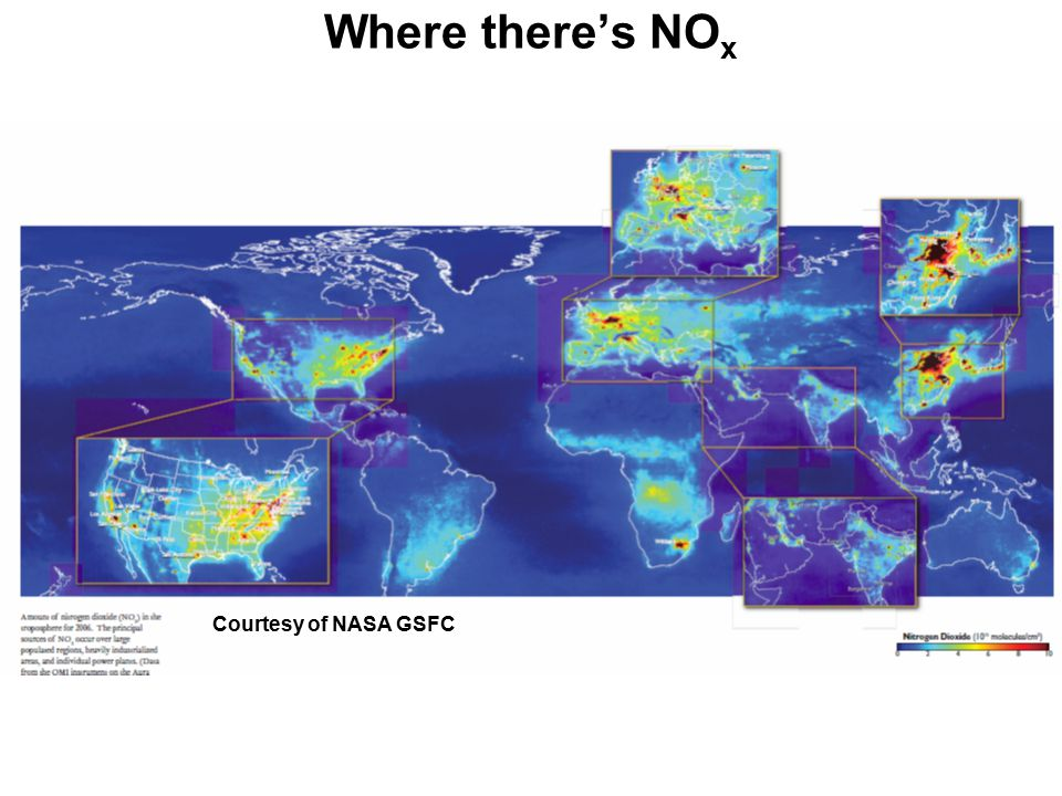 Where there's NO x Courtesy of NASA GSFC