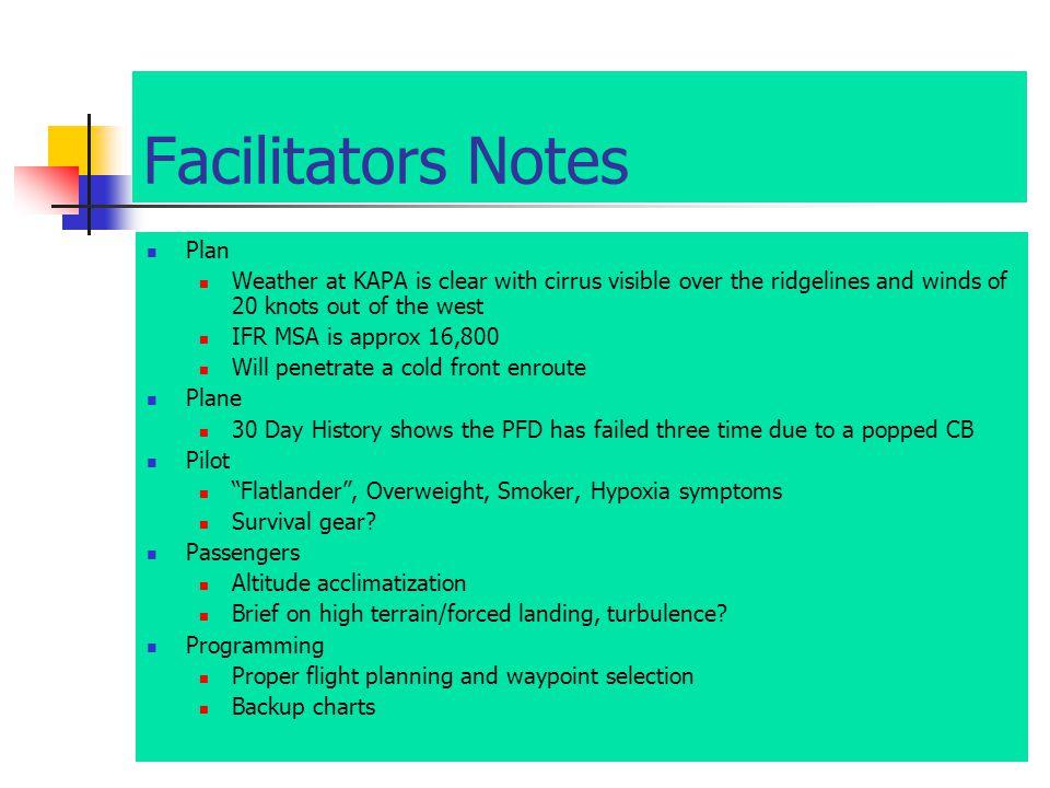 Facilitators Notes The 5P Check The Plan.