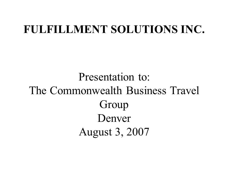 FULFILLMENT SOLUTIONS INC.