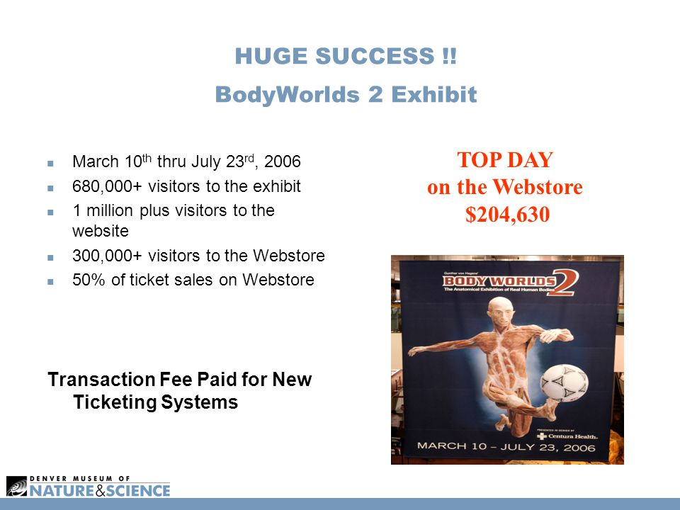 HUGE SUCCESS !.