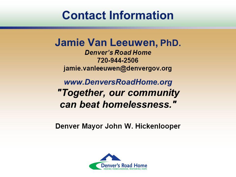 Contact Information Jamie Van Leeuwen, PhD.