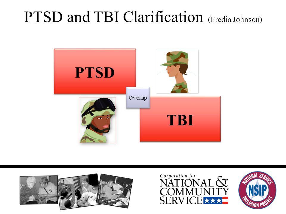 PTSD and TBI Clarification (Fredia Johnson) TBI PTSD Overlap