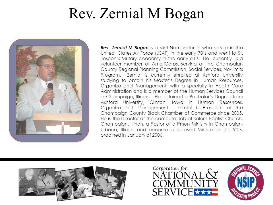 Rev. Zernial M Bogan Rev.