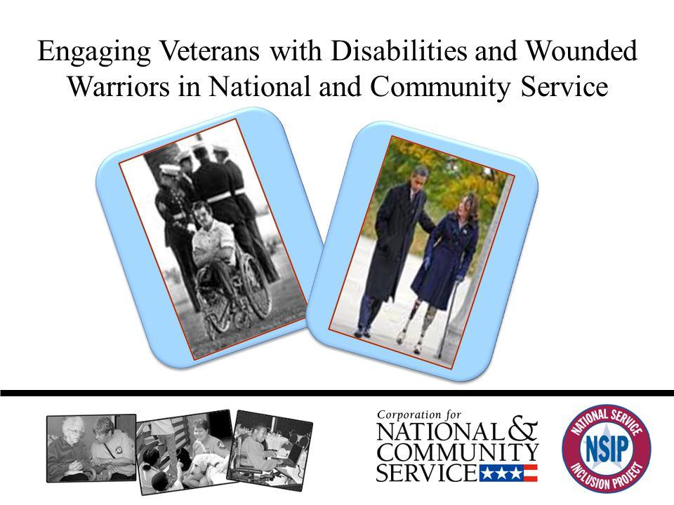 Overall Project Plan (Paula Sotnik and Joanne Cohen) Background Objectives Methods Target Participants Current Status www.serviceandinclusion.org/veterans