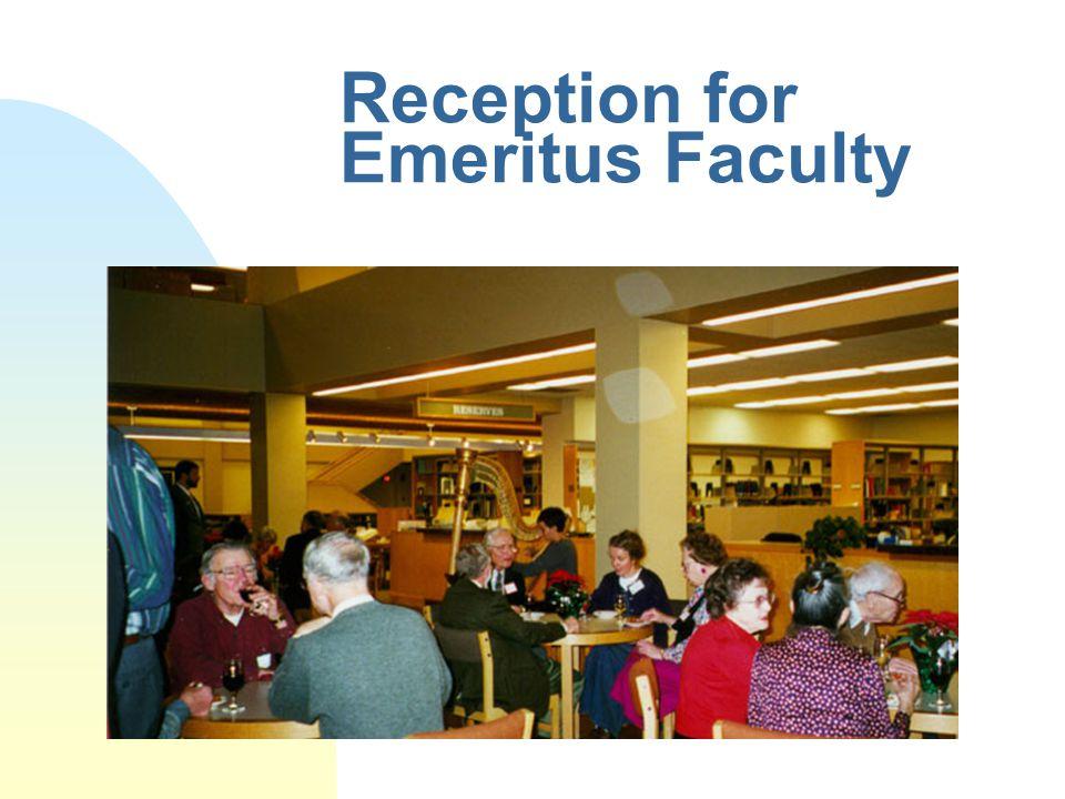 Reception for Emeritus Faculty