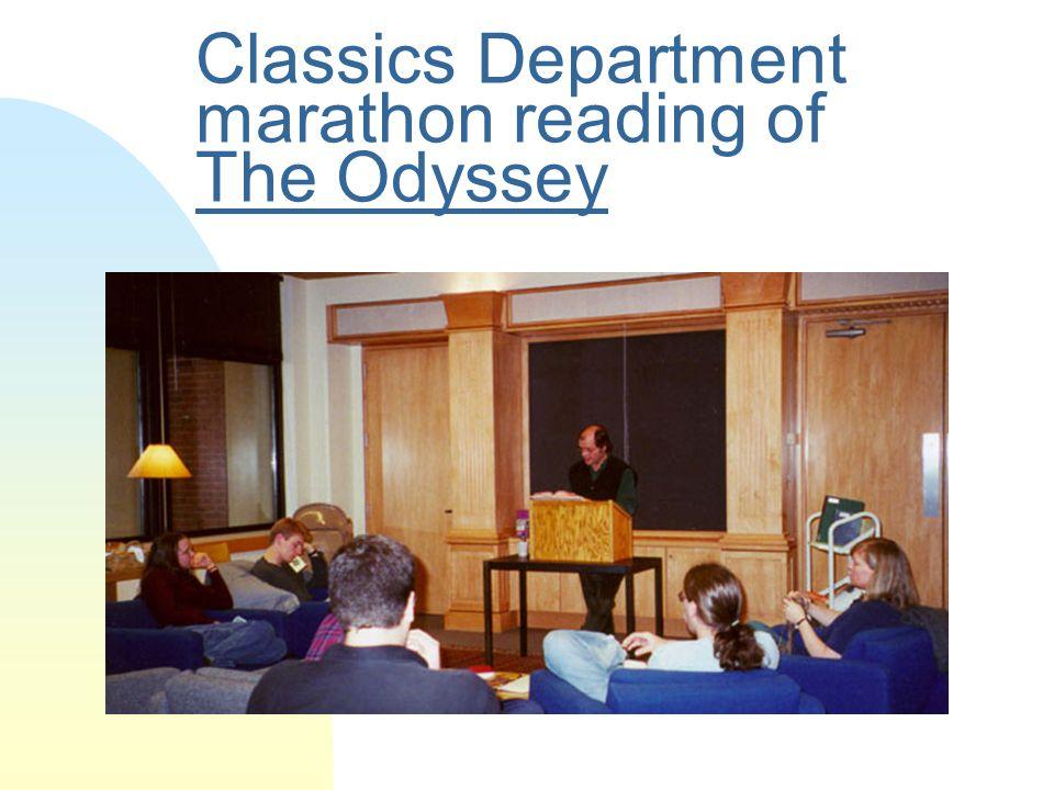 Classics Department marathon reading of The Odyssey