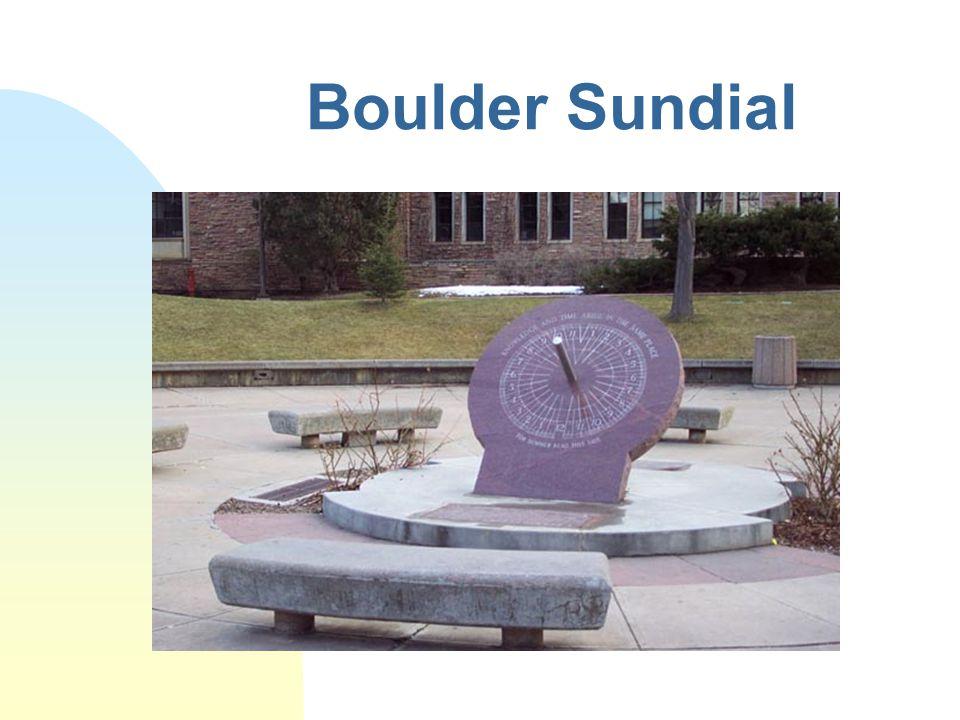 Boulder Sundial