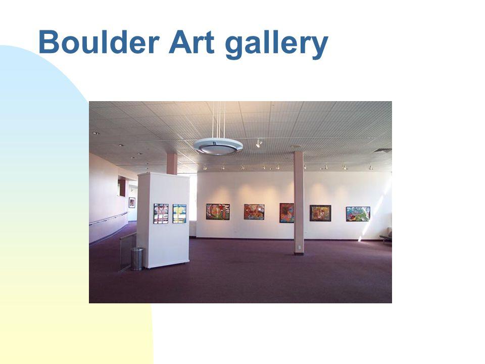 Boulder Art gallery