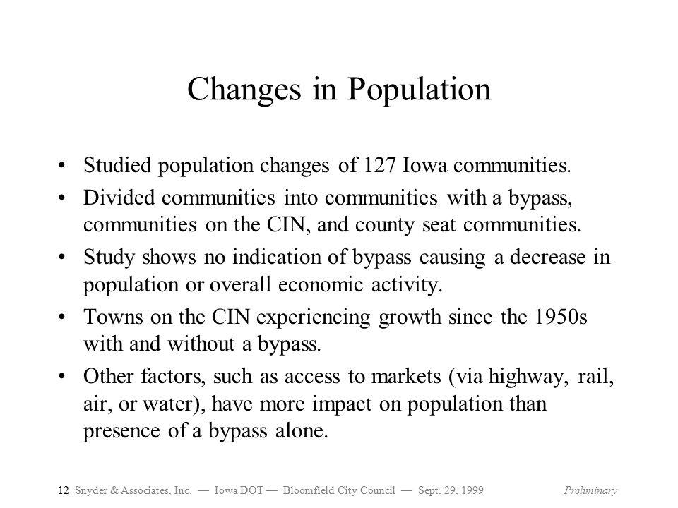 12 Snyder & Associates, Inc.— Iowa DOT — Bloomfield City Council — Sept.