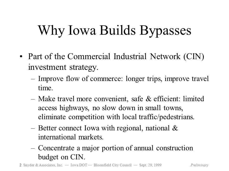 2 Snyder & Associates, Inc.— Iowa DOT — Bloomfield City Council — Sept.